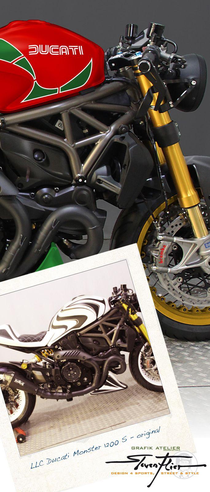 grafik atelier steven flier | limbaecher-custom – llc ducati