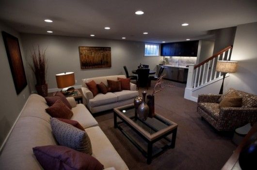 Idea Remodeling Basement Family Room Basement Design Basement