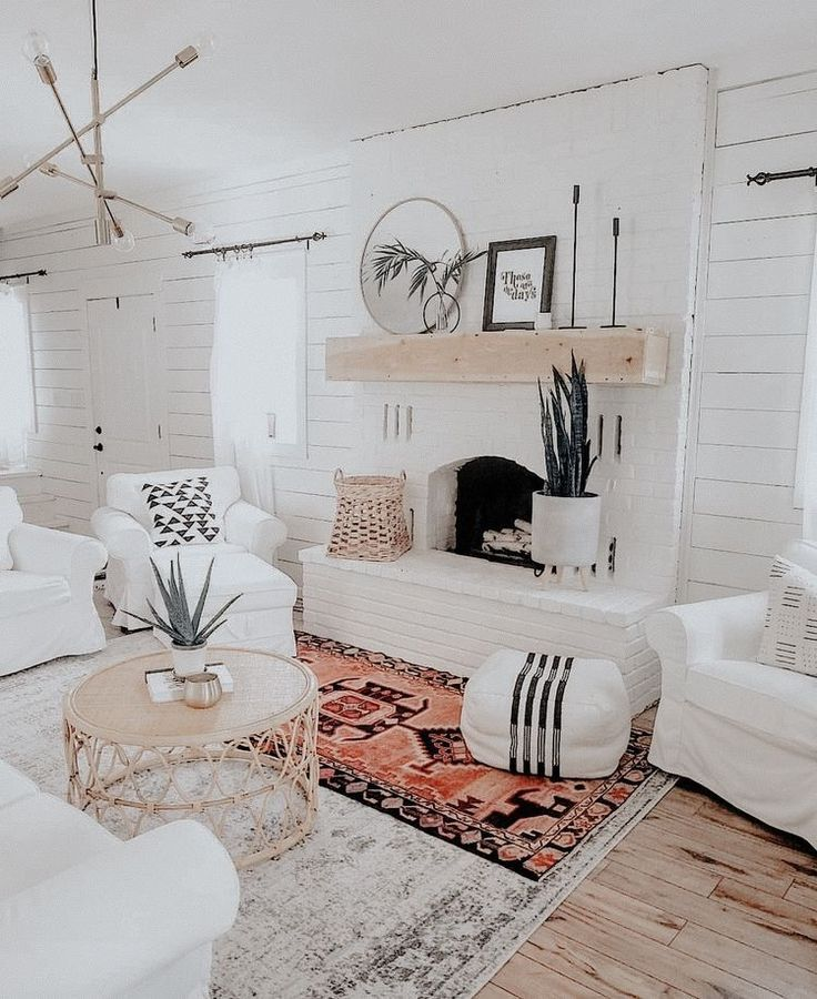 A Mix Of Mid Century Modern Bohemian And Industrial Interior Style Home And Apartment De Bohemian Living Room Decor Living Room Inspo Bohemian Living Room
