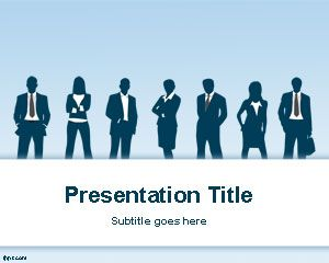 Free business ppt template with cyan background and businessmen free business ppt template with cyan background and businessmen silhouettes is a free business powerpoint template toneelgroepblik Images