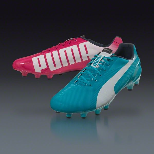 PUMA evoSPEED 1.2 Tricks FG - Beetroot Purple Bluebird White Firm Ground  Soccer Shoes a9146824ed
