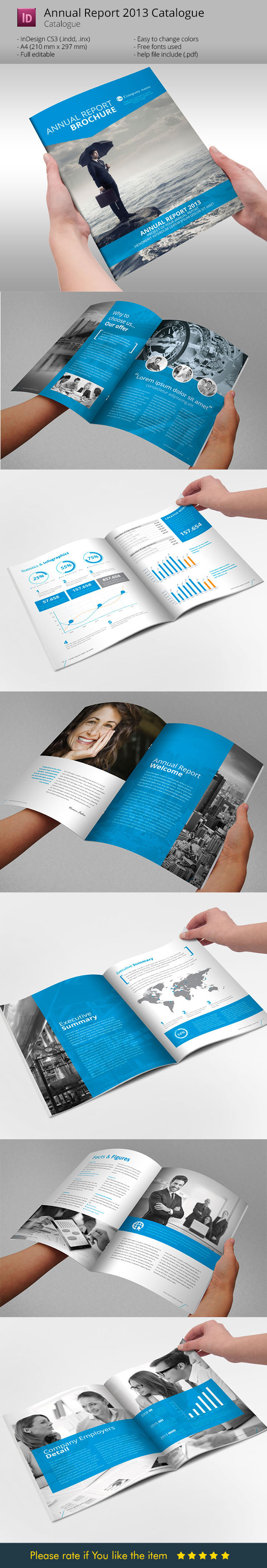 Annual Report Brochure Indesign Template by BraxasMora.deviantart ...