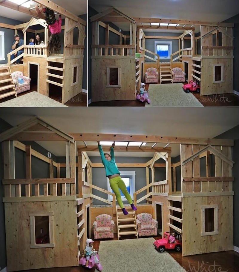 Lit enfant original fabriquer soi m me et id es de customisation g niales lit cabane lit - Fabriquer lit cabane soi meme ...