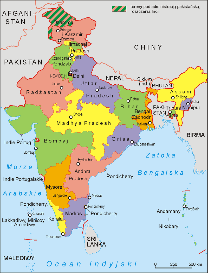 Wikipedia India Map India administrative map 1956 PL   States Reorganisation Act, 1956
