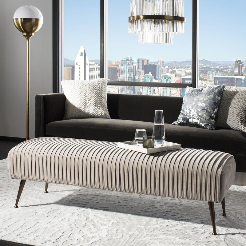 Arvilla Upholstered Bench Upholstered Bench Living Room Bench Modern Furniture Living Room #upholstered #bench #for #living #room