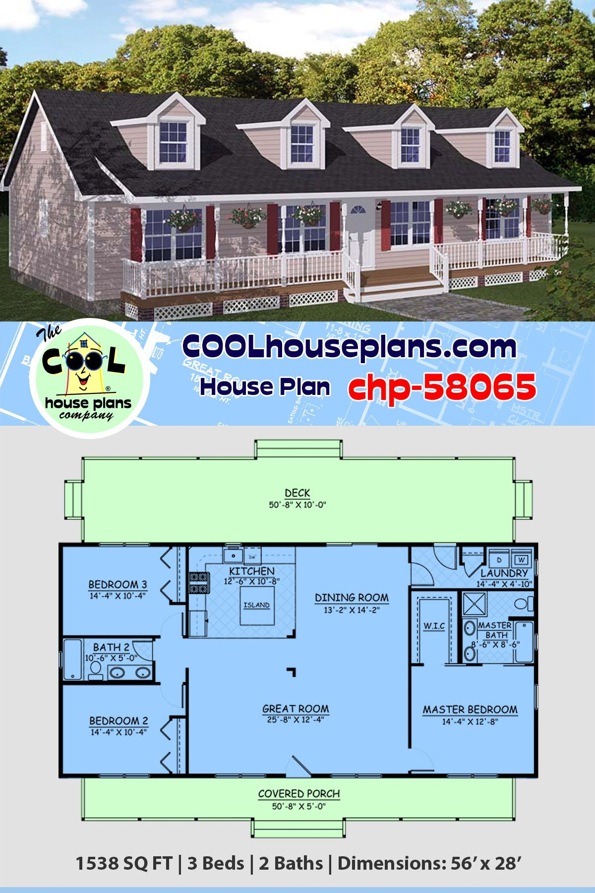 Southern Style House Plan 10 with 10 Bed, 10 Bath   Ranch house ...