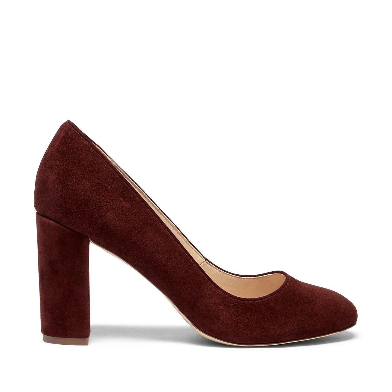 bfc1b23ae4c Giselle Block Heel Pump - Red Wine