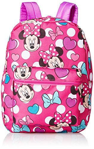 Disney Little Girls Minnie Mouse Print Backpack Pink One Size -- To view  further for this item ecb1a34c82771