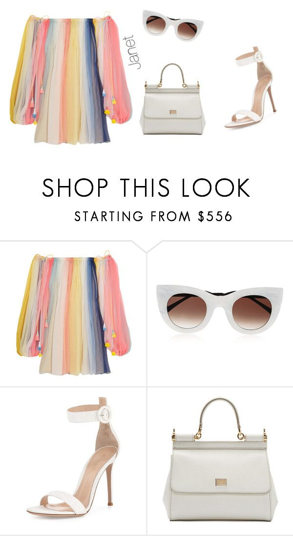 """""""Unbenannt #1083"""" by janetplanet ❤ liked on Polyvore featuring Chloé, Thierry Lasry, Gianvito Rossi and Dolce&Gabbana"""