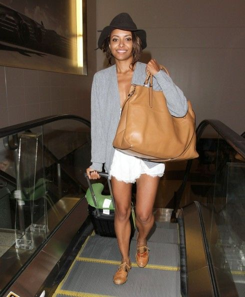 Kat Graham Catches a Flight