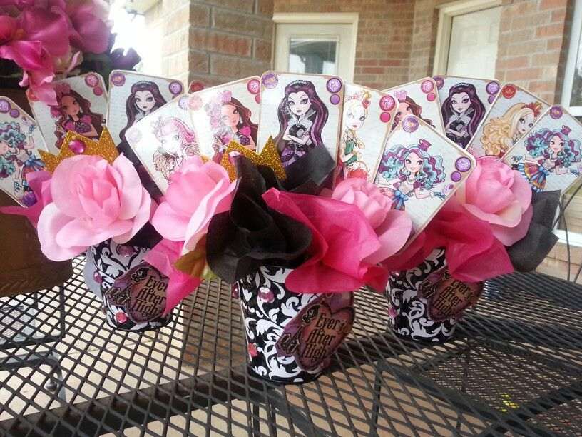 Ever After High smaller table decorations Crafts Pinterest