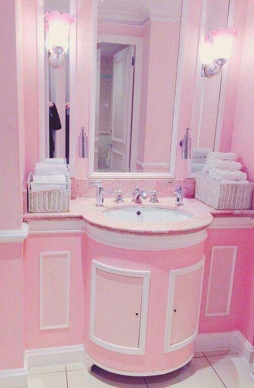 My Bathroom Pink Bathroom Shabby Chic Bathroom Pink Houses