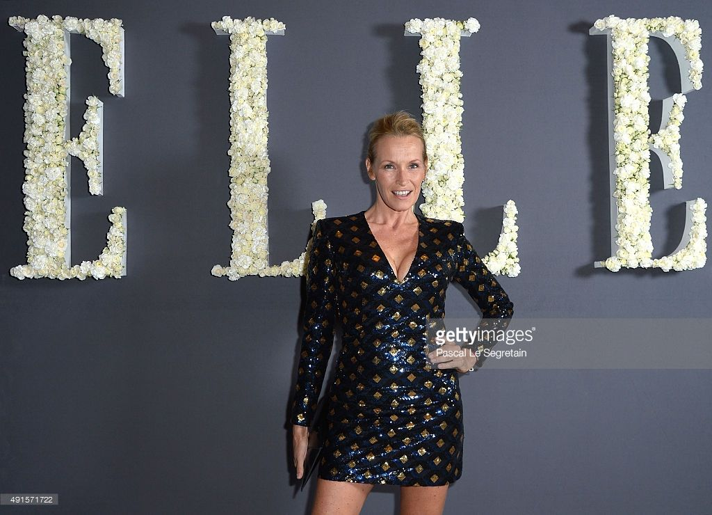 Estelle Lefebure attends a cocktail party hosted by the U.S. Ambassador to France and Monaco to celebrate ELLE U.S.'s 30th Anniversary & ELLE France's 70th Anniversary at Embassy Of The United States on October 6, 2015 in Paris, France.