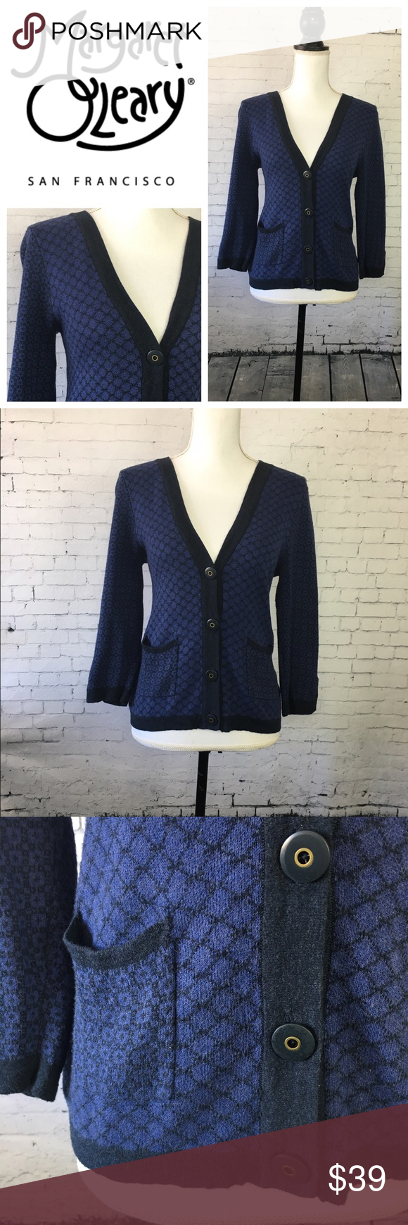 """Margaret O'Leary Preppy Cardigan Cozy cardigan in 100% cotton by high end designer label Margaret O'Leary. Great for spring layering and perfect over dresses, trousers or jeans. Size S. Approx 22"""" long and 18"""" across the chest when laying flat. Excellent condition. Margaret O'Leary Sweaters Cardigans"""