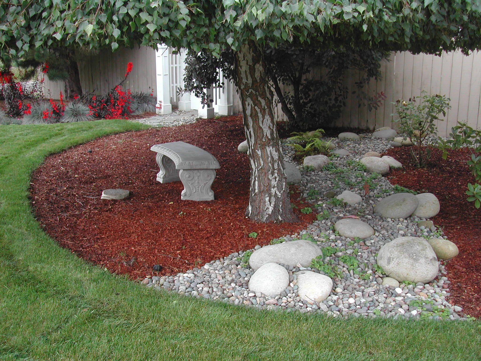 Grass Bark Backyard Landscape Ideas For Small Yards Laurieflower