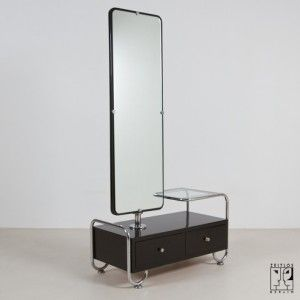 Exceptional Dressing Table With Mirror In Bauhaus Design   ZEITLOS