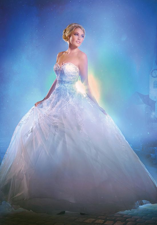 Alfred Angelo Disney Fairy Tale Weddings Bridal Collection 272 Ball Gown Wedding Dress