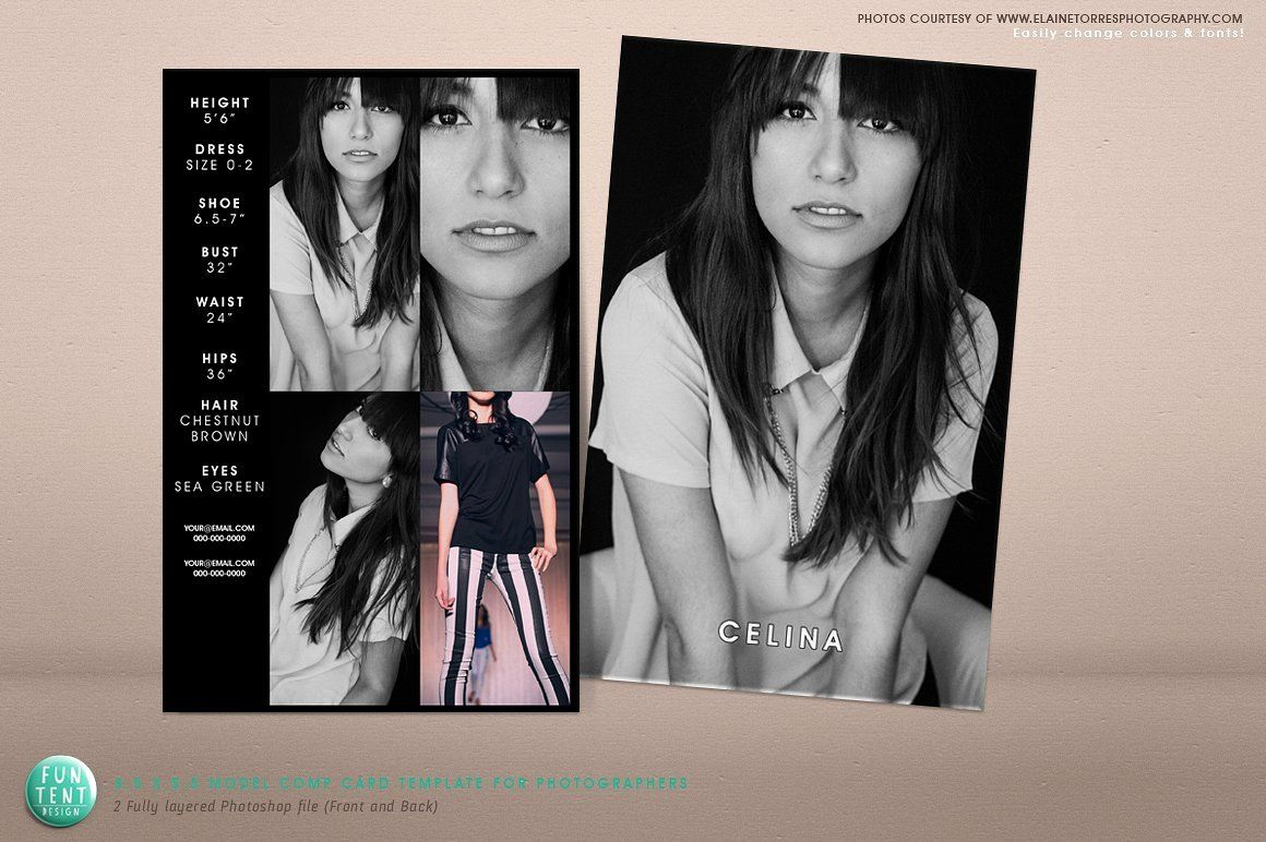 Free Comp Card Template New Model P Card 8 5x5 5 Fashion Presentation Templates Model Comp Card Photoshop Template Design Card Templates Free