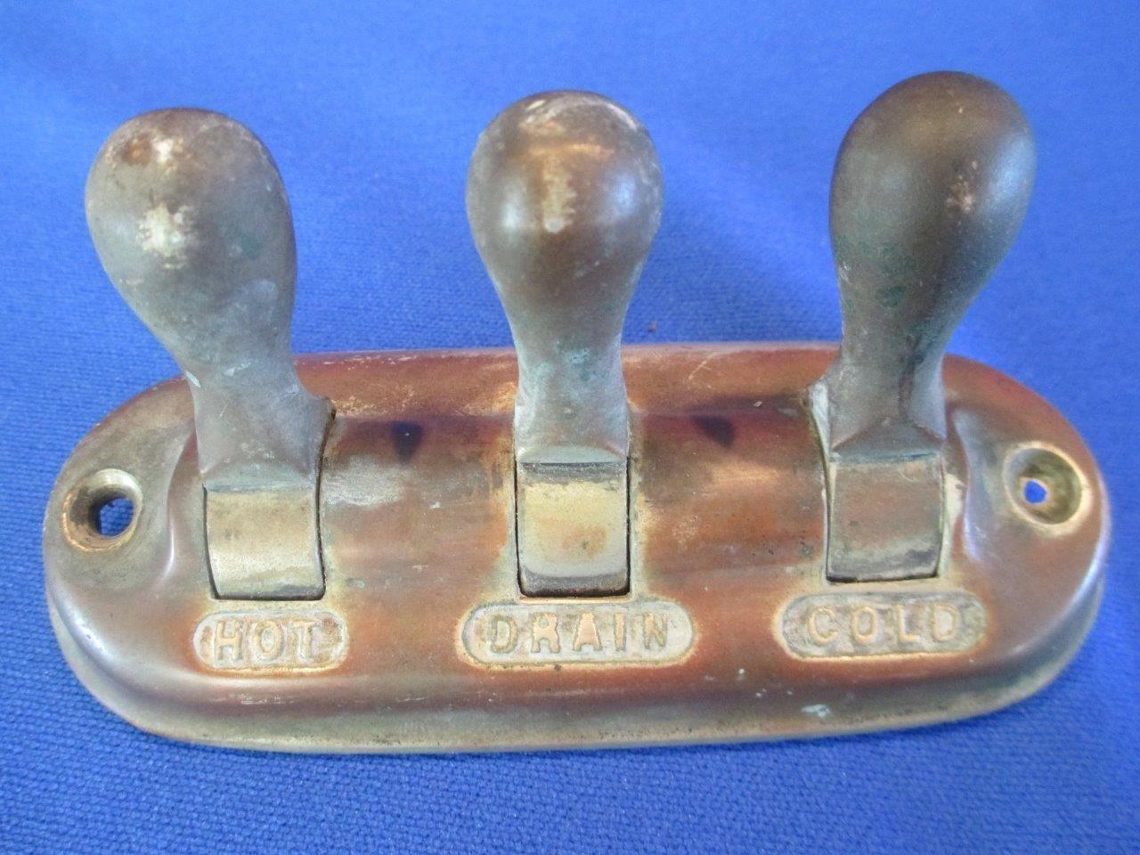 Antique Railroad Pullman Car Nickel Over Brass Vanity Sink Faucet Valve RARE | eBay
