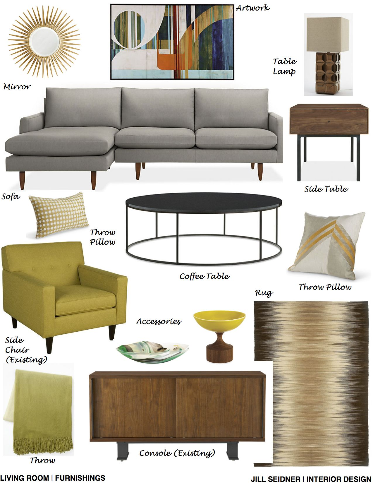 San Diego CA Residence Online Design Project Living Room
