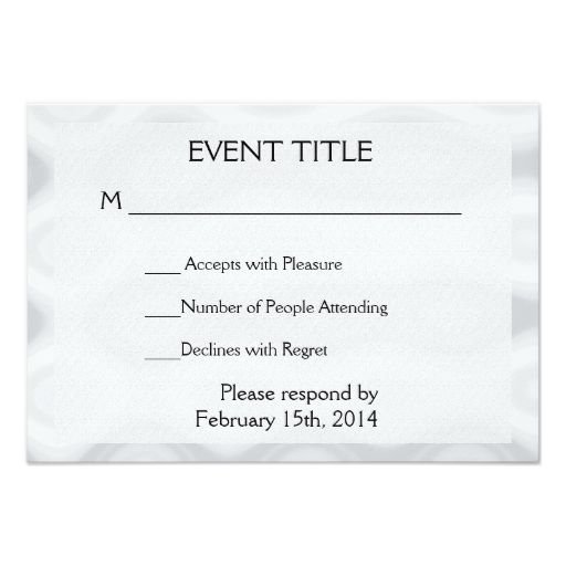 Fast And Easy Blank Template Zazzle Com Templates Response Cards Event Invitation