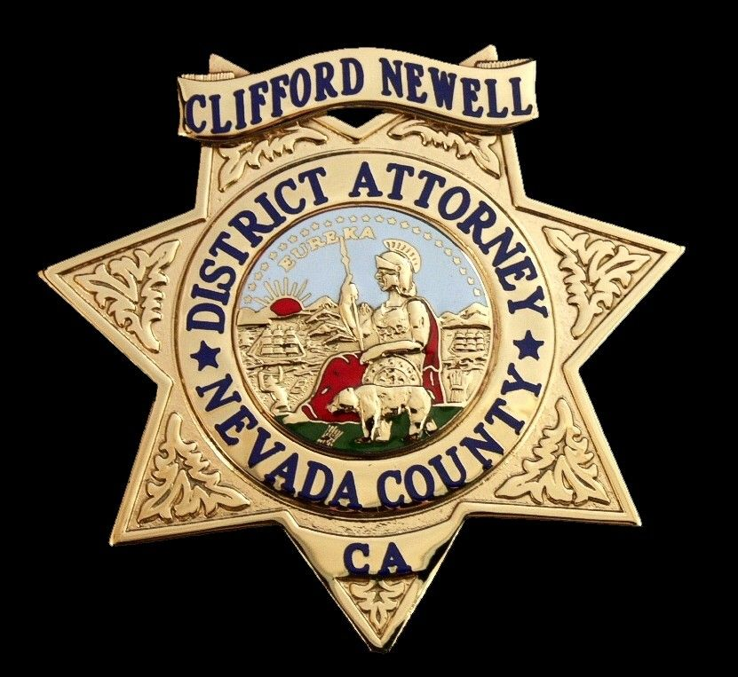 Nevada County, CA District Attorney Badge Star Police