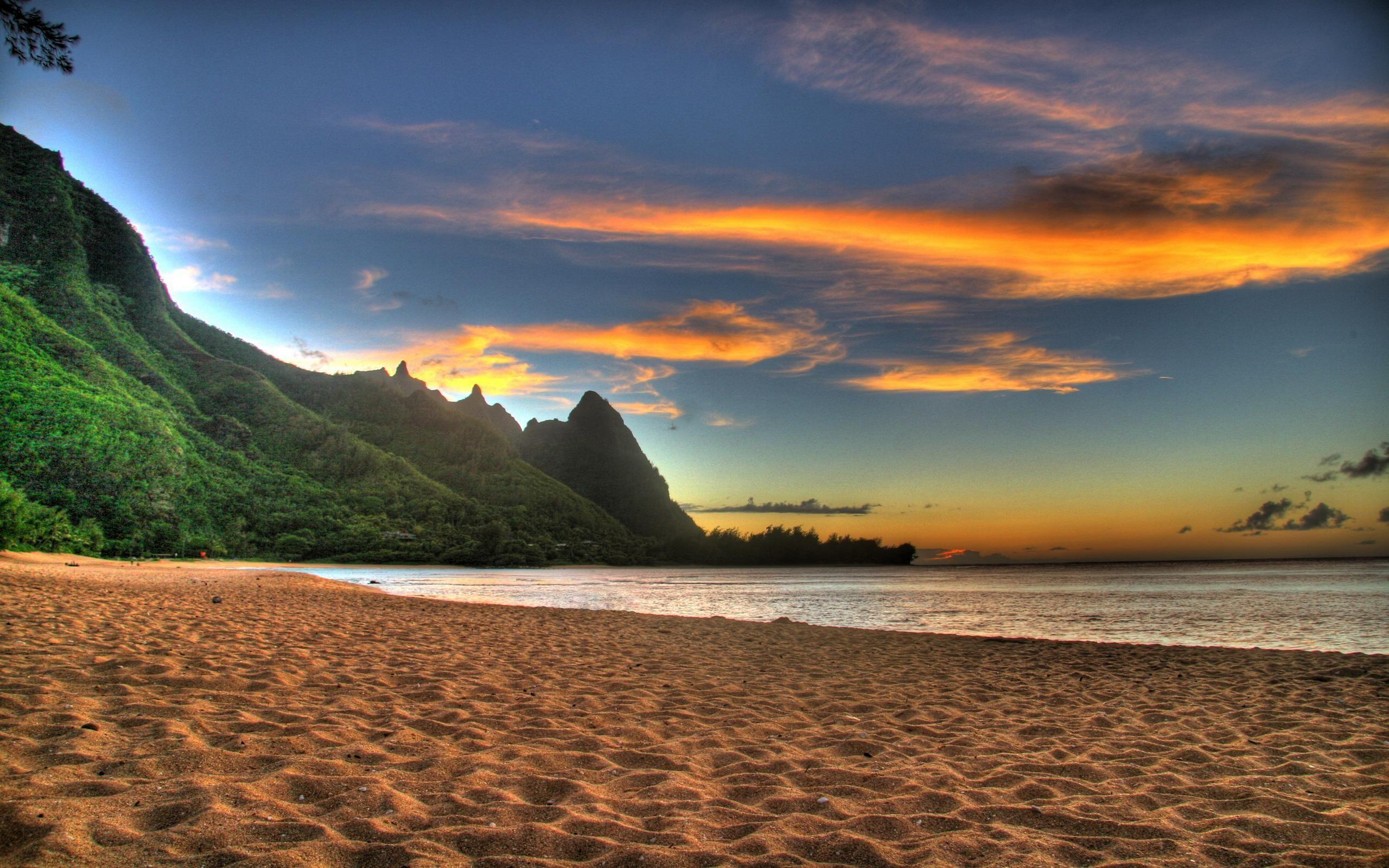 صور طبيعة جميلة Tunnels Beach Kauai Beach Sunset Wallpaper Beach Images