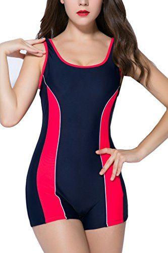Beautyin Swimsuits For Women One Piece Full Swimsuits For Women Boyleg Swimsuit Chec Sport Swimwear Women S One Piece Swimsuits Tankini Swimsuits For Women
