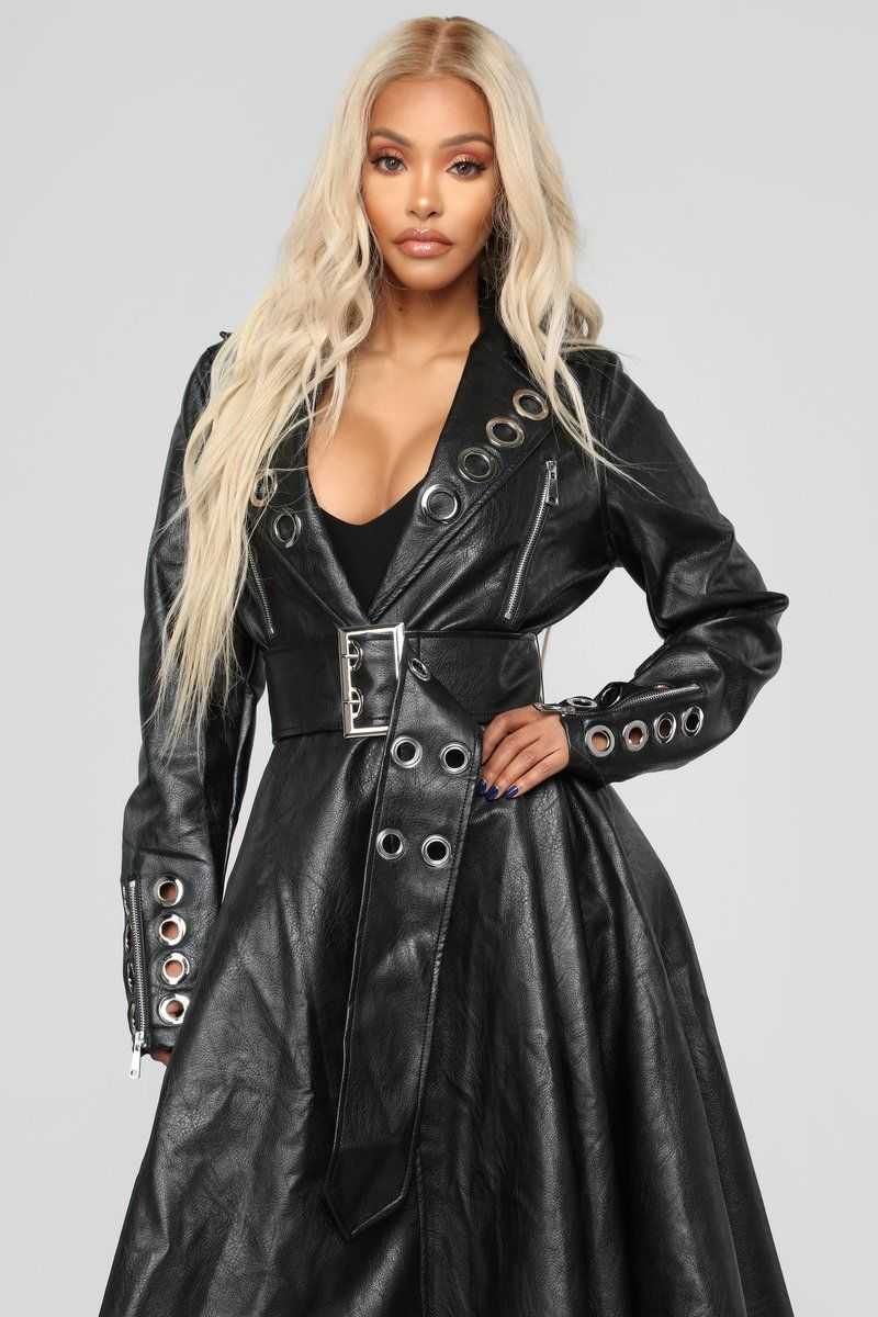 Womens Biker Leather Jacket Girls Trendy Fitted Coat in a Ruby