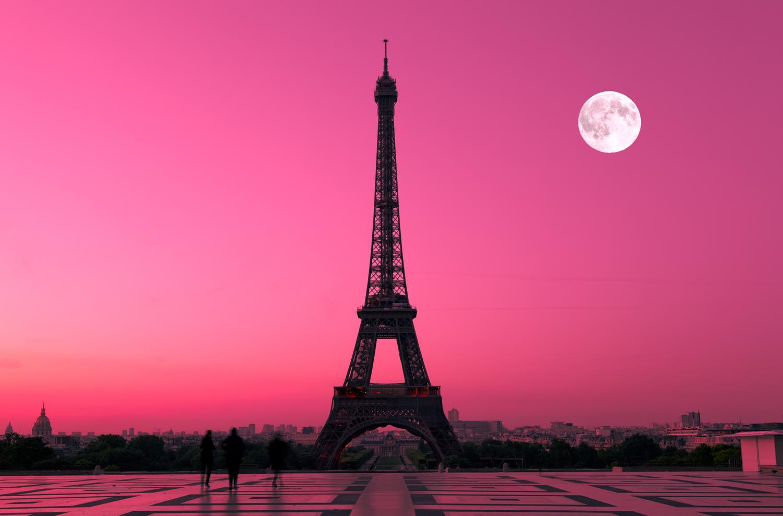 برج ايفيل Eiffel Tower At Night Paris Sunset Paris Wallpaper