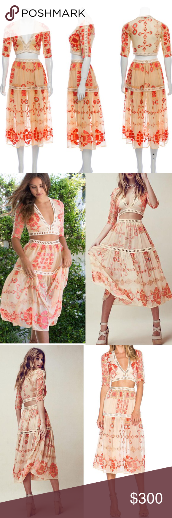 For Love And Lemons Barcelona Crop Top Skirt Set Crop Top Skirt Set Crop Top Skirt Skirt Set