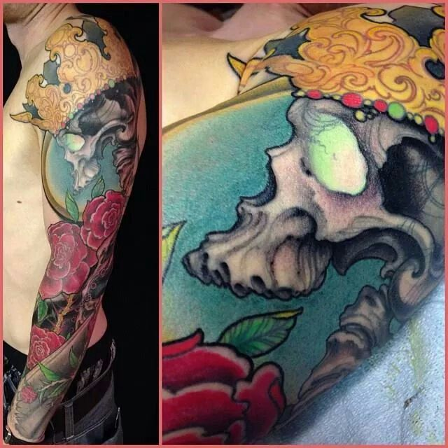 Colors tattoo skull