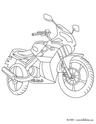 Motorcycle coloring page | coloring pages | Pinterest | Digital ...