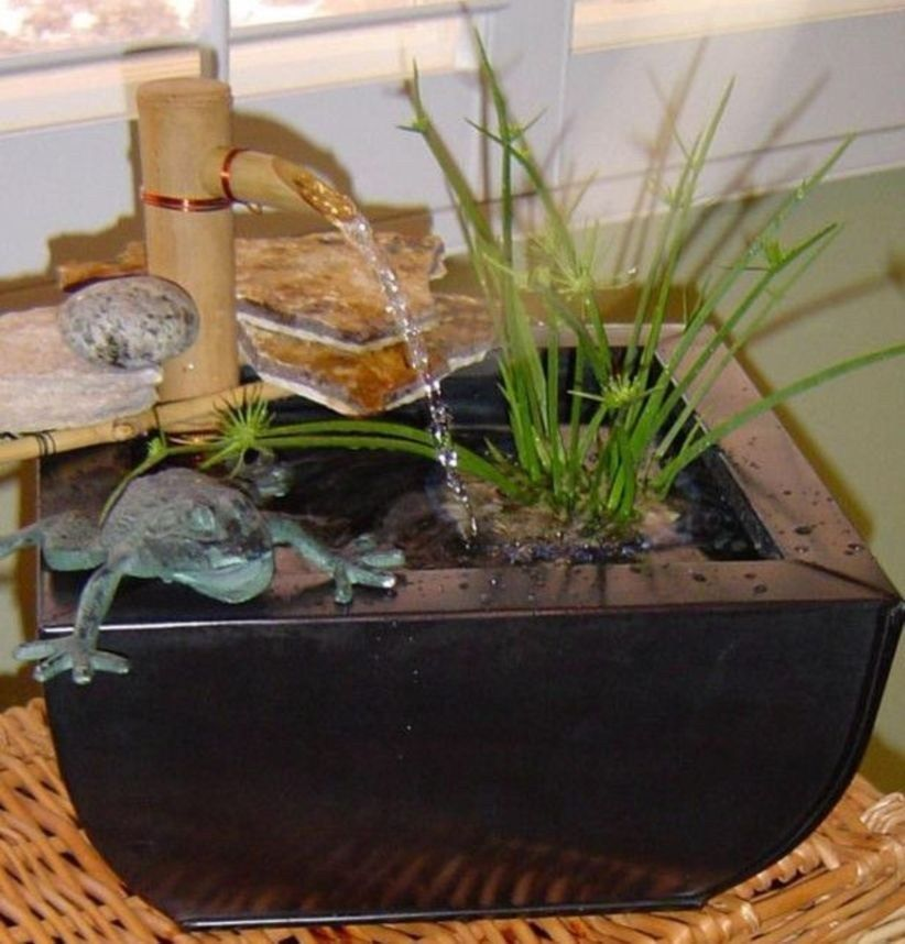 Diy Indoor Container Water Garden Ideas 23 Indoor Waterfall