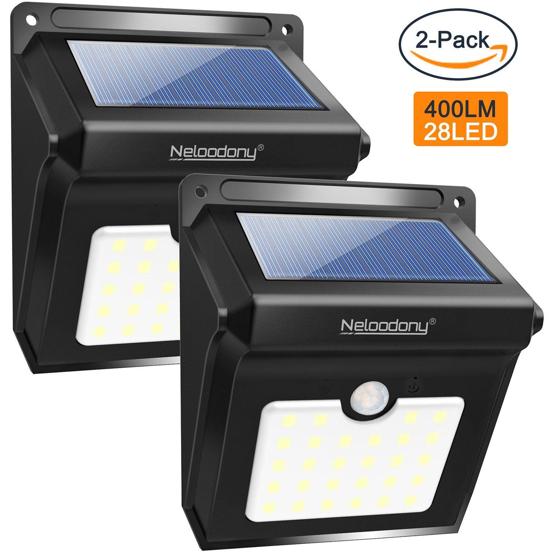 Neloodony Motion Sensor Solar Lights Outdoor Super Bright 28 Led Wireless Waterproof Sol Motion Sensor Lights Outdoor Motion Sensor Lights Outdoor Solar Lights