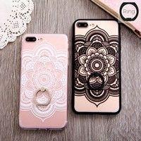 buy online 6c168 cb5d1 Lace Relief Case For iphone 7 6 6s 6plus 7plus Case Luxury Hollow ...