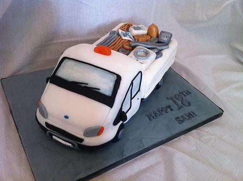 Cake Decorating Pens Tesco : Transit van cake Men s cakes Pinterest Van, Cakes and Cake