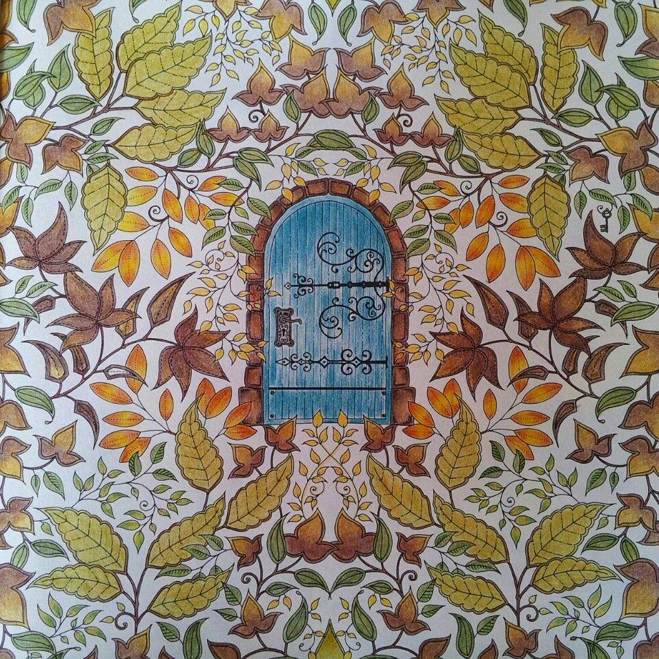 Jardim Secreto Porta Johanna Basford Colouring TechniquesAdult ColoringJohanna BasfordSecret GardensColoringBooksGardenDoors