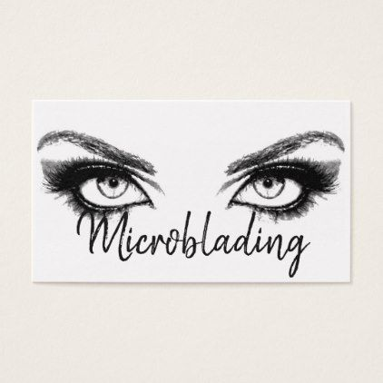 Microblading eyebrows tattoo permanent makeup business card microblading eyebrows tattoo permanent makeup business card diy cyo personalize design idea new special custom reheart Image collections