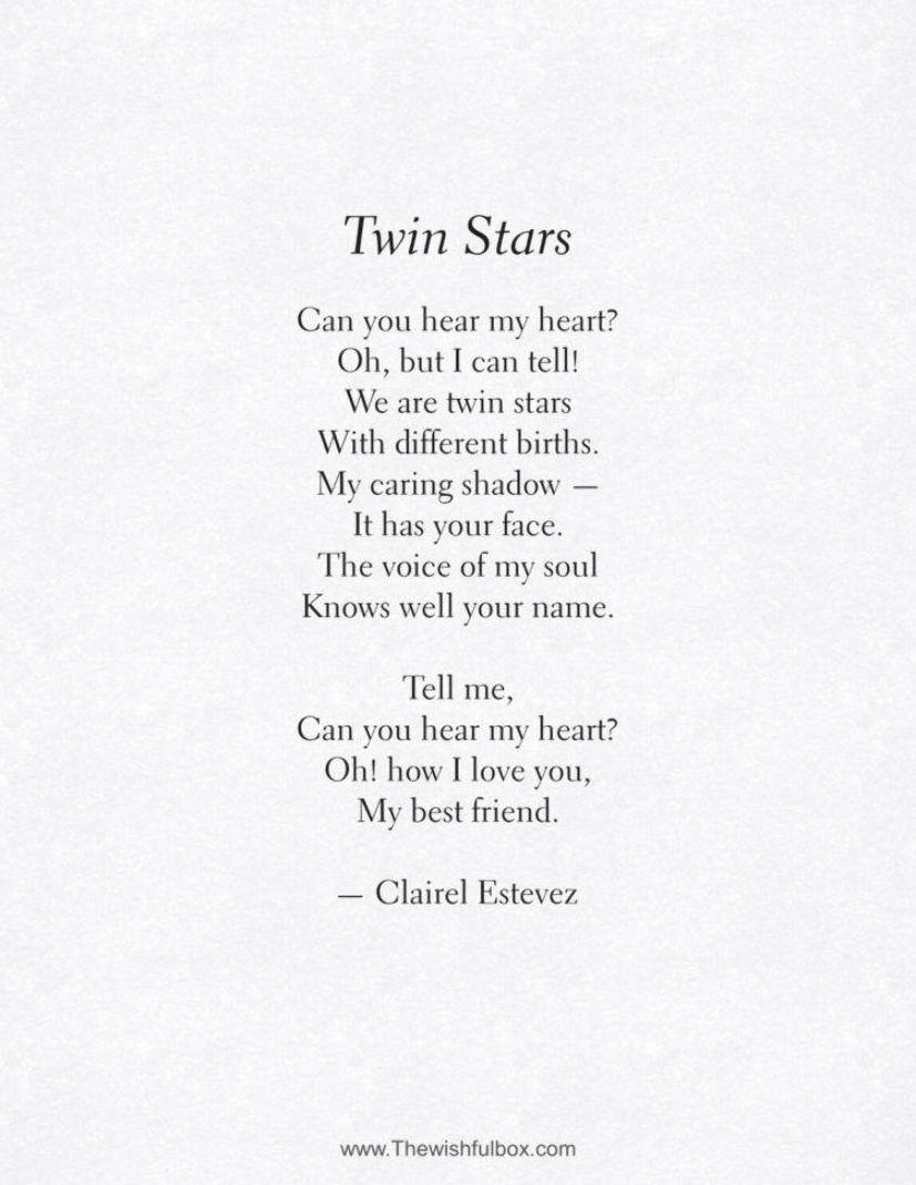 To my beautiful friend poem