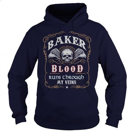 BAKER - #sweat shirts #cotton shirts. I WANT THIS => https://www.sunfrog.com/Names/BAKER-139518761-Navy-Blue-Hoodie.html?id=60505