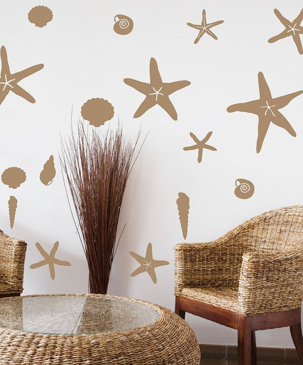Take a look at this Light Brown Seashells by the Seashore Wall ...