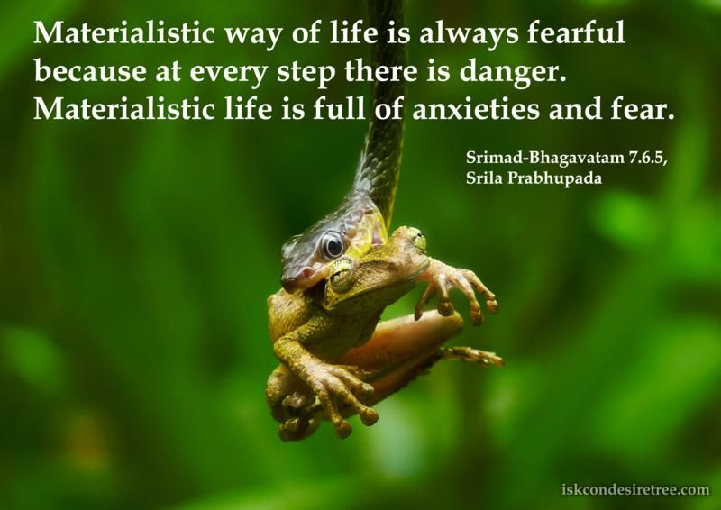 Srimad Bhagavatam On Materialistic Life Krishna Quotes Life