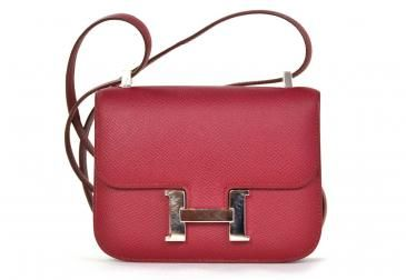 f0df008dd7d8 Hermes Rubis Red Epsom Leather 14 Cm Constance Micro Bag