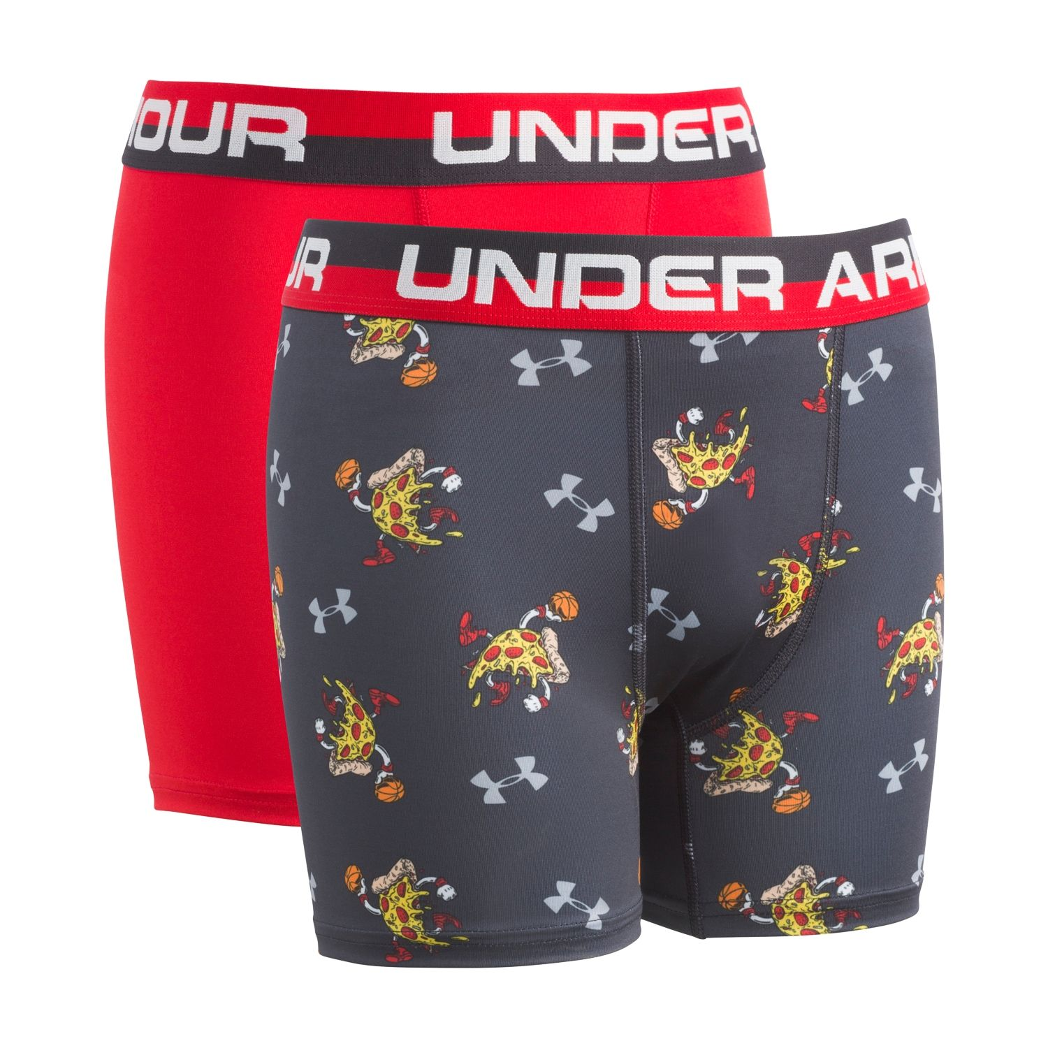 Boys 6 20 Under Armour Pizza 2 Pack Boxer Briefs Under Armour Kids Under Armour Armour