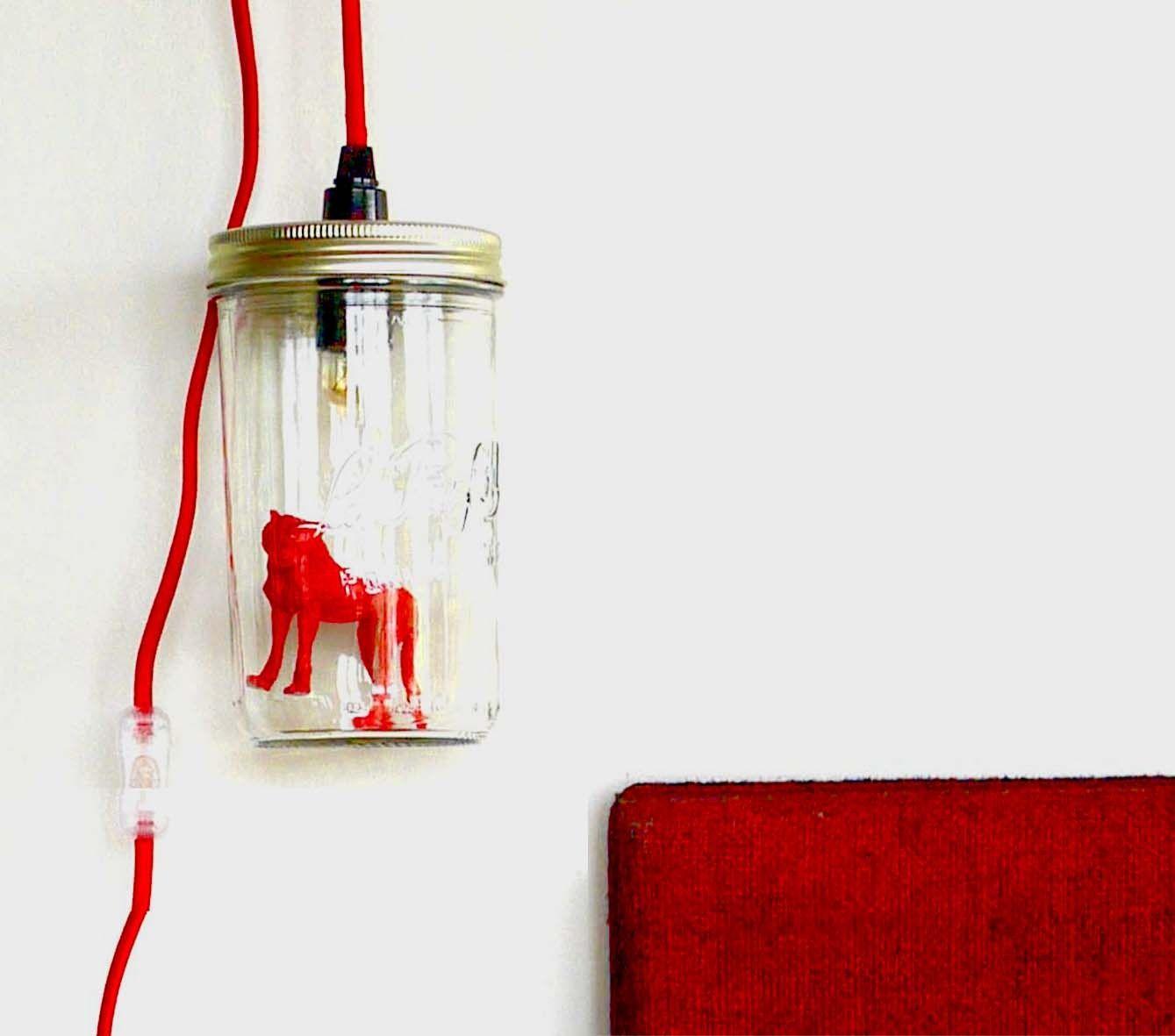 Lampe Le Bocal Allumé - La Panthère Rouge