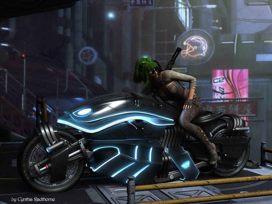 Ready To Run By Radthorne Futuristic Motorcycle Cyberpunk
