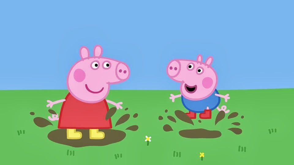 Peppa Pig And George Love Jumping In Muddy Puddles Spring Fun
