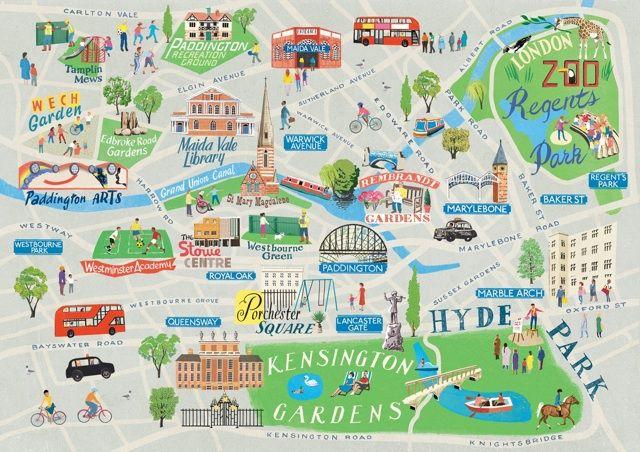 London Mapas Ilustrados Mapa Ciudad Mapas