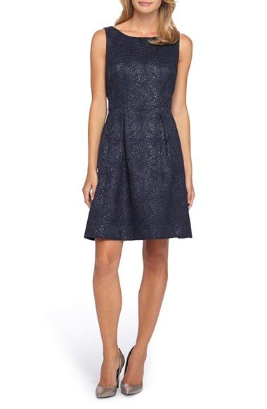 Tahari Jacquard A-Line Dress (Regular & Petite) available at #Nordstrom